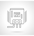 Water heater flat line icon vector image vector image