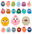 Chicken - Flat Design Funky Chicks Isolated vector image