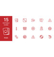 15 risk icons vector image vector image