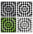 Abstract checkered background set eps10 vector image vector image