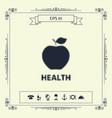 apple - halftone logo vector image vector image