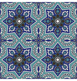 Arabesque seamless pattern in blue and turquoise vector image vector image