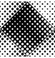 black and white seamless abstract circle pattern vector image vector image