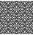 black and white swirls pattern vector image vector image
