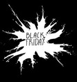 black friday big sale white ink splach vector image vector image