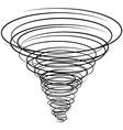 black tornado symbol vector image vector image