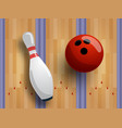 bowling pattern or banner concept track vector image vector image