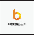 business logo modern hexagon initial b vector image