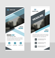 business roll up banner flat design template blue vector image vector image