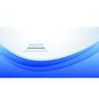 business style presentation blue wave background vector image vector image