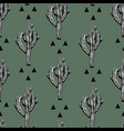 Cactus seamless pattern with saguaro