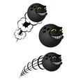 Cartoon bowling balls characters vector image vector image