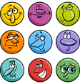 characters faces cartoon set vector image
