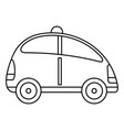 city self driving car icon outline style vector image vector image