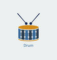 colored drum icon silhouette icon vector image