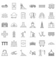 constraction icons set outline style vector image vector image