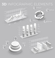 corporate infographic elements in gray and white vector image vector image