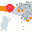 cute baby teddy bear in colorful spring forest vector image