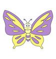 cute cartoon butterfly vector image vector image