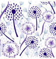 dandelions on white vector image vector image