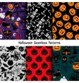 Different halloween pattern set vector image vector image