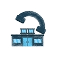Drawing house real estate shape telephone