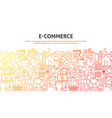 e commerce concept vector image