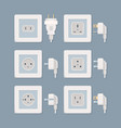 electric plug electricity collection american vector image