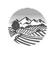 farm logo black and white vector image vector image