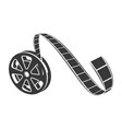 film reel icon cinematography black tape strip vector image