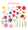 floral elements for your design vector image vector image