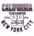 graphic design california new york ci for t-shirts vector image vector image
