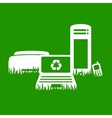Green electronics recycling vector | Price: 1 Credit (USD $1)