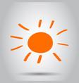 hand drawn sun icon sun sketch doodle handdrawn vector image vector image