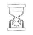 hourglass time happy kawaii character vector image