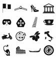 italy black simple icons vector image vector image
