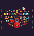 mexico colorful symbols composition vector image vector image
