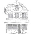 old stone house vector image vector image
