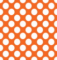 Orange polka dot seamless pattern vector image vector image