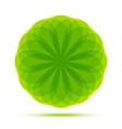 Organic Natural Circular Green Emblem vector image