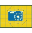 Photo camera icon Blueprint style vector image vector image
