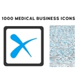 Reject Icon with 1000 Medical Business Symbols vector image vector image
