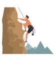 rock climbing sport flat vector image