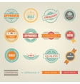 set colored emblems and stamps depicting vector image vector image