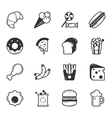 Set of fastfood icons eps10 format vector image