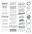 Set of hand drawn textures for your design vector image vector image