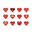 set of heart icon vector image vector image