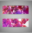 set of holiday banners with multicolored balloons vector image