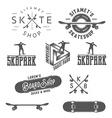 Set of skateboarding desin gelements vector image vector image