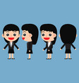 set of young female businessman vector image